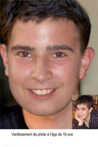 VIeillissement de photo, David Fortin à l'âge de 16 ans