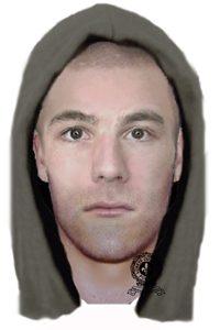 portrait-robo d'un suspect recherché pour vol qualifié à Sainte-Véronique